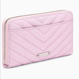 Rebecca Minkoff Pink Edie Quilted Leather Wallet